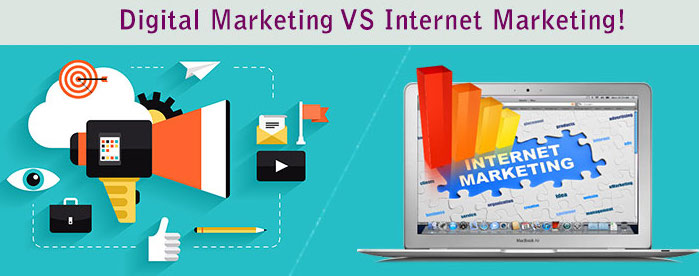 Internet vs digital marketing.
